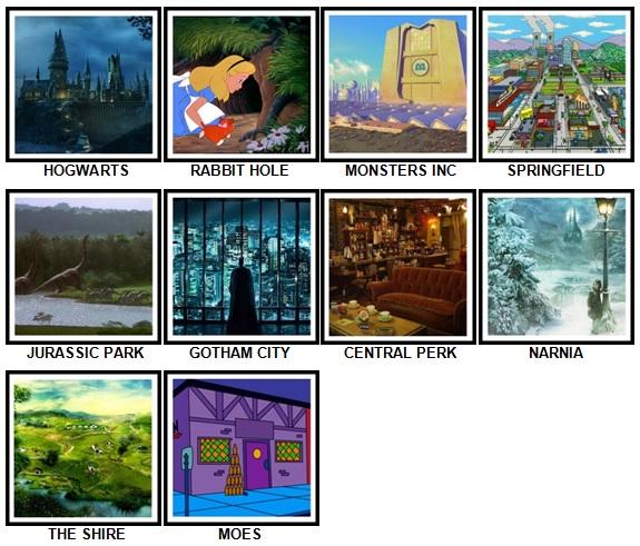 100 Pics Fantasy Lands Answers 1-10