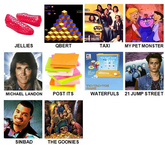 100 Pics I Love 1980s Level 41-50 Answers