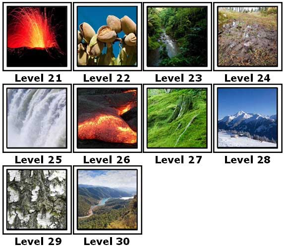 100 Pics Nature Level 21-30 Answers | 100 Pics Answers