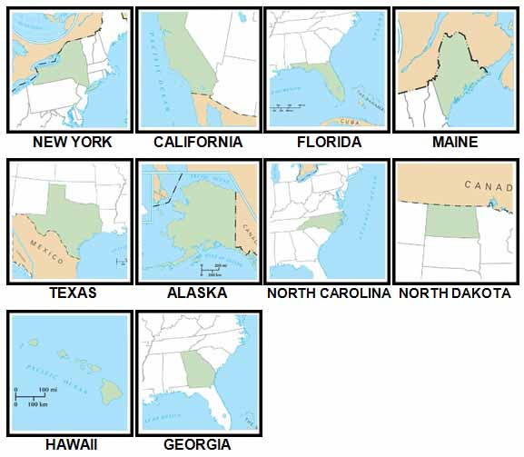 100 Pics States and Capitals Answers Level 1-10