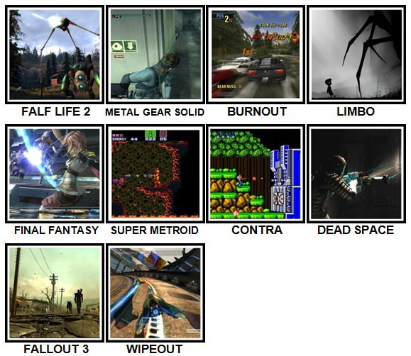 100 Pics Video Games Level 61-70 Answers