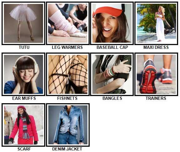 100 Pics Fashion Answers 1-10