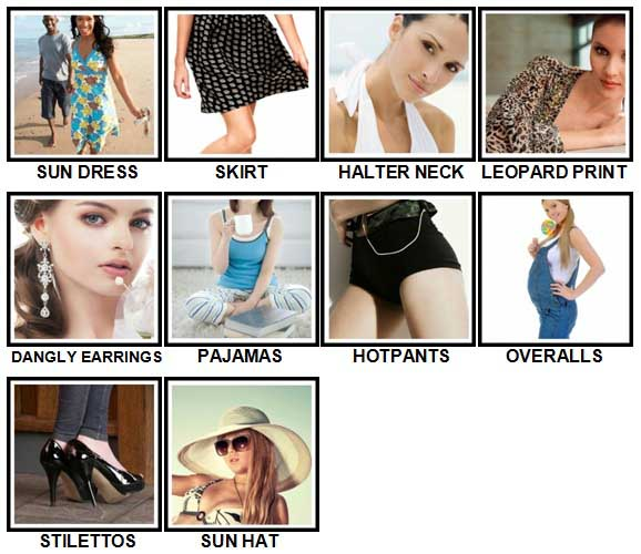 100 Pics Fashion Level 11-20 Answers