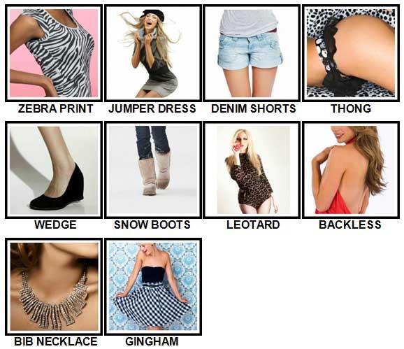100 Pics Fashion Level 21-30 Answers