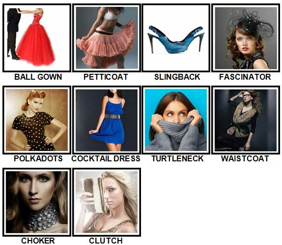 100 Pics Fashion Level 31-40 Answers