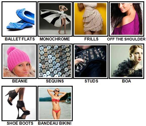 100 Pics Fashion Level 41-50 Answers