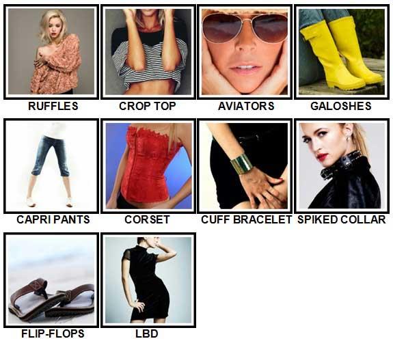 100 Pics Fashion Level 51-60 Answers
