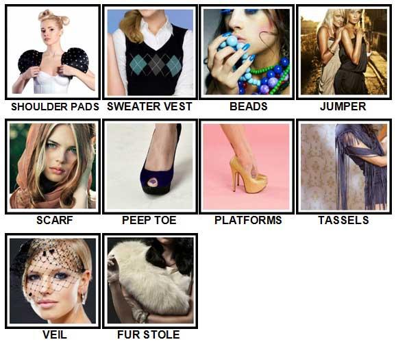 100 Pics Fashion Level 71-80 Answers