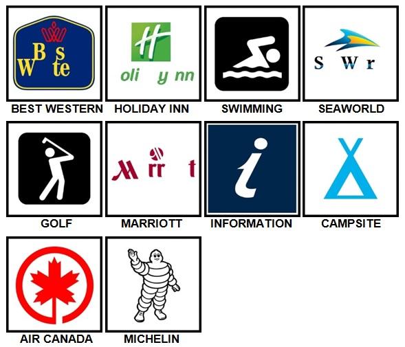100 Pics Holiday Logos Level 11-20 Answers