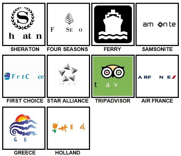 100 Pics Holiday Logos Level 21-30 Answers