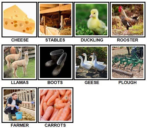 100 Pics On The Farm Level 21-30 Answers