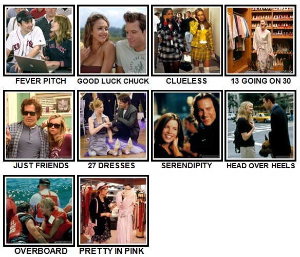 100 Pics Rom-Coms Level 41-50 Answers