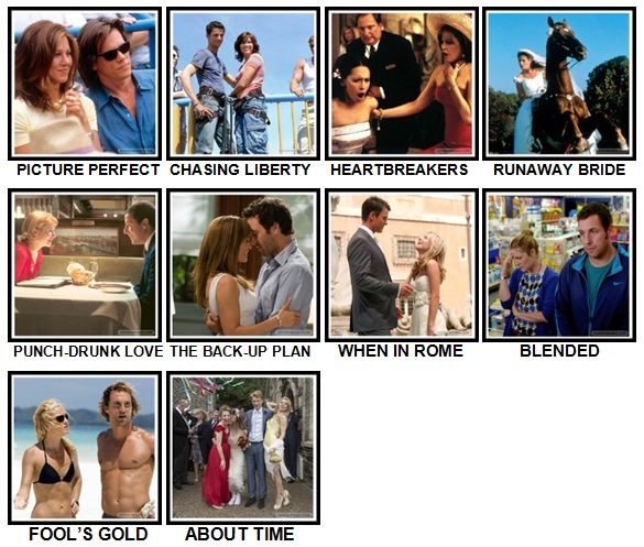 100 Pics Rom-Coms Level 71-80 Answers
