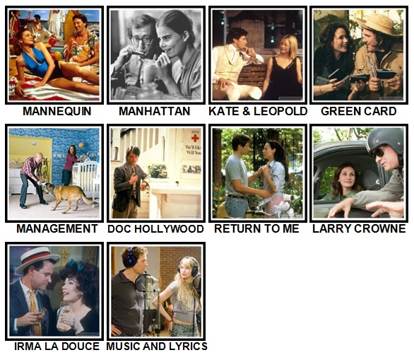 100 Pics Rom-Coms Level 91-100 Answers