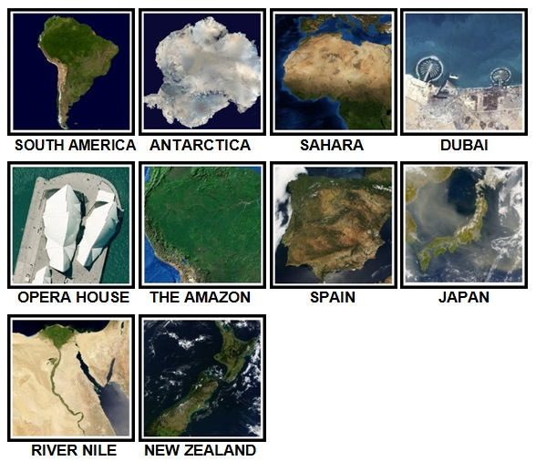 100 Pics Earth From Above Level 11-20 Answers