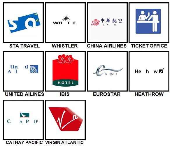 100 Pics Holiday Logos Level 51-60 Answers