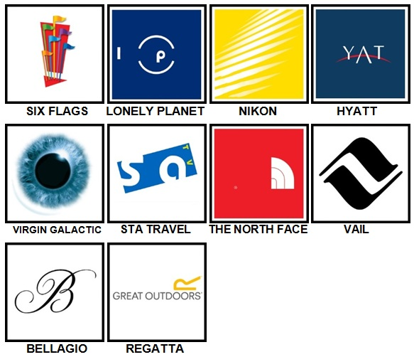 100 Pics Holiday Logos Level 71-80 Answers
