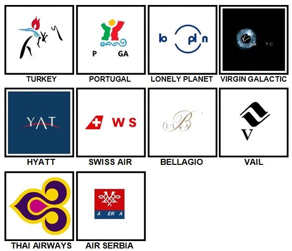 100 Pics Holiday Logos Level 71-80 Answers
