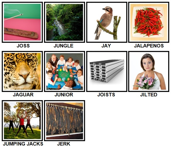 100 Pics J is For Level 41-50 Answers