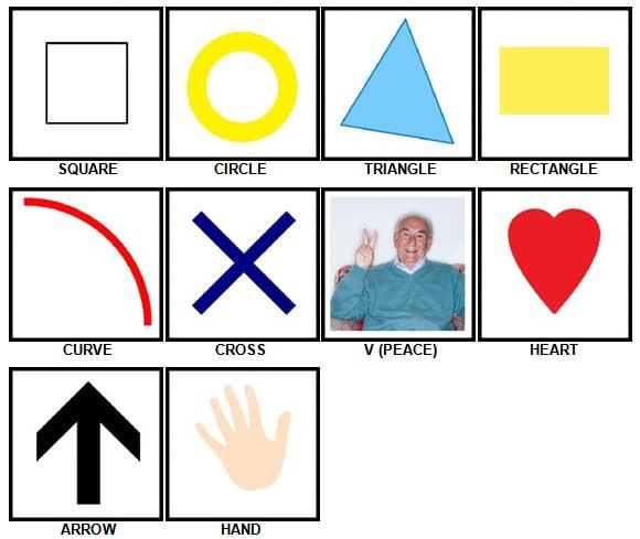 100 Pics Shapes Answers 1-10