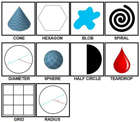 100 Pics Shapes Level 21-30 Answers