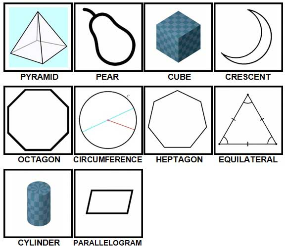 100 Pics Shapes Level 31-40 Answers
