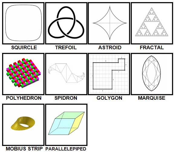 100 Pics Shapes Level 81-90 Answers