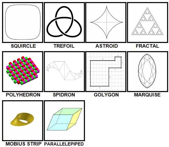 100 Pics Shapes Level 81-90 Answers
