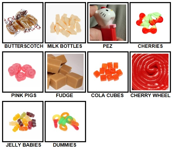 100 Pics Sweet Shop Level 11-20 Answers