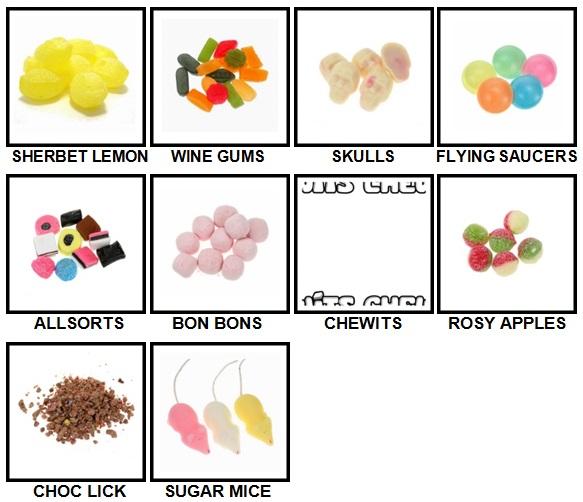 100 Pics Sweet Shop Level 21-30 Answers