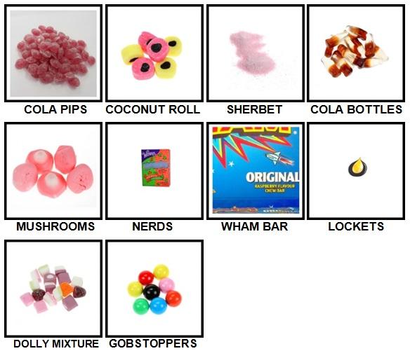 100 Pics Sweet Shop Level 71-80 Answers