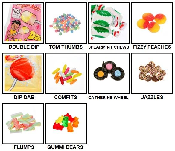 100 Pics Sweet Shop Level 91-100 Answers