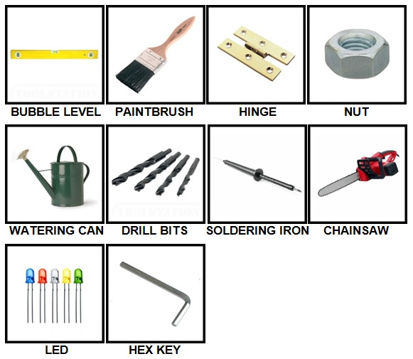 100 Pics Toolbox Level 11-20 Answers