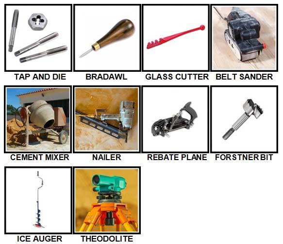 100 Pics Toolbox Level 91-100 Answers