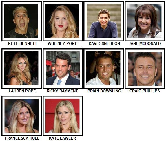 100 Pics Reality TV Stars Answers 71-80