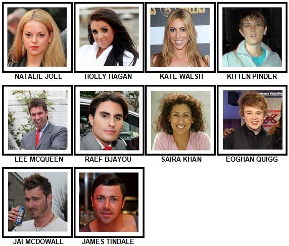 100 Pics Reality TV Stars Answers 91-100