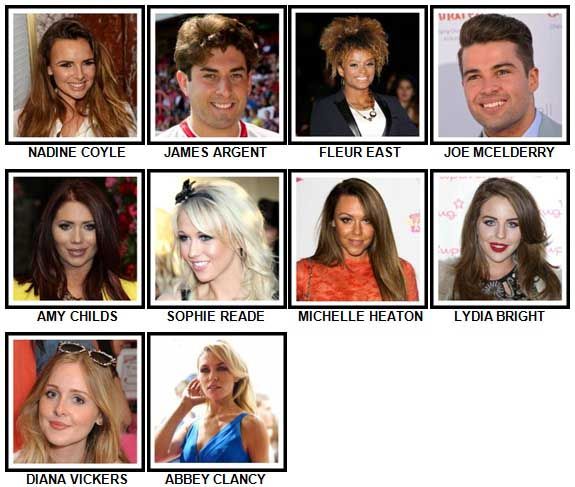 100 Pics Reality TV Stars Level 31-40 Answers
