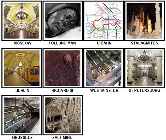 100 Pics Underground Level 81-90 Answers