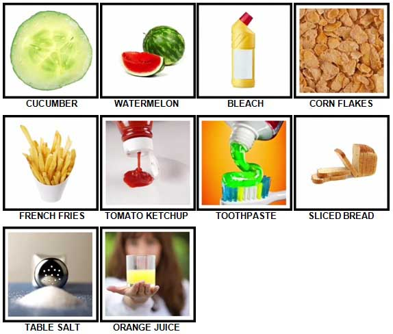 100 Pics Weekly Shop Answers Level 21-30