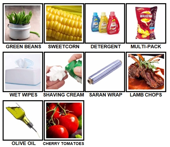 100 Pics Weekly Shop Level 61-70 Answers