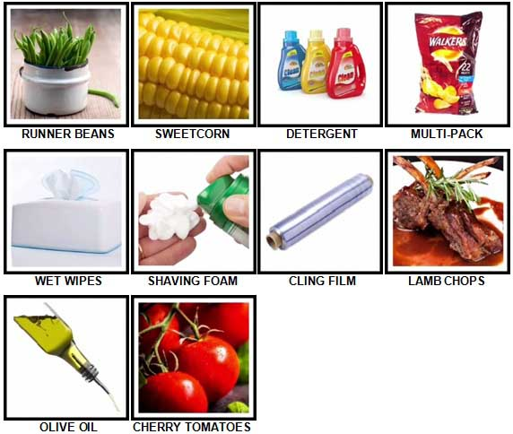 100 Pics Weekly Shop Answers Level 61-70