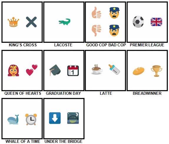 100 Pics Emoji Quiz Level 31-40 Answers
