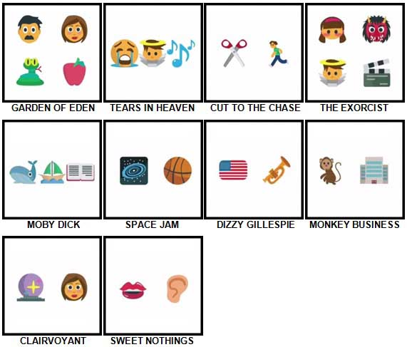 100 Pics Emoji Quiz Level 81-90 Answers