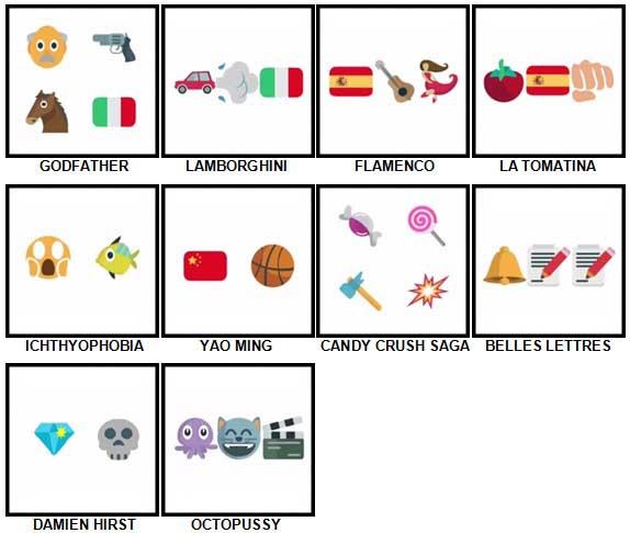 100 Pics Emoji Quiz Level 91-100 Answers