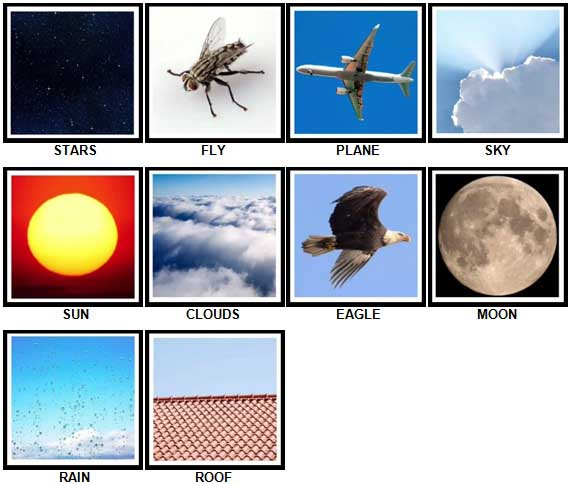 100 Pics Look UP Level 1-10 Answers