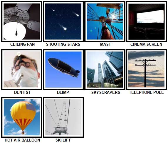 100 Pics Look UP Level 41-50 Answers
