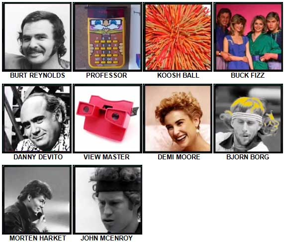 100 Pics The 1980s Level 71-80 Answers