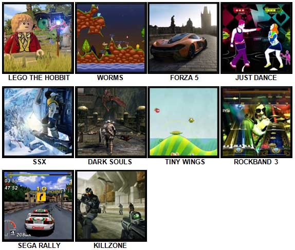 100 Pics Video Games 2 Level 11-20 Answers