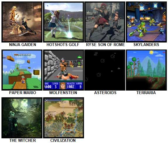 100 Pics Video Games 2 Level 41-50 Answers