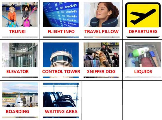 100 Pics Airport Level 31-40 Answers
